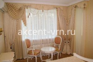Пример работы штор партьер Люся в зал