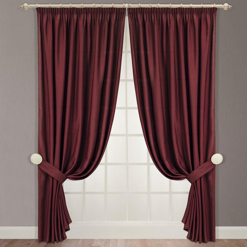 Бордовые шторы фото 4