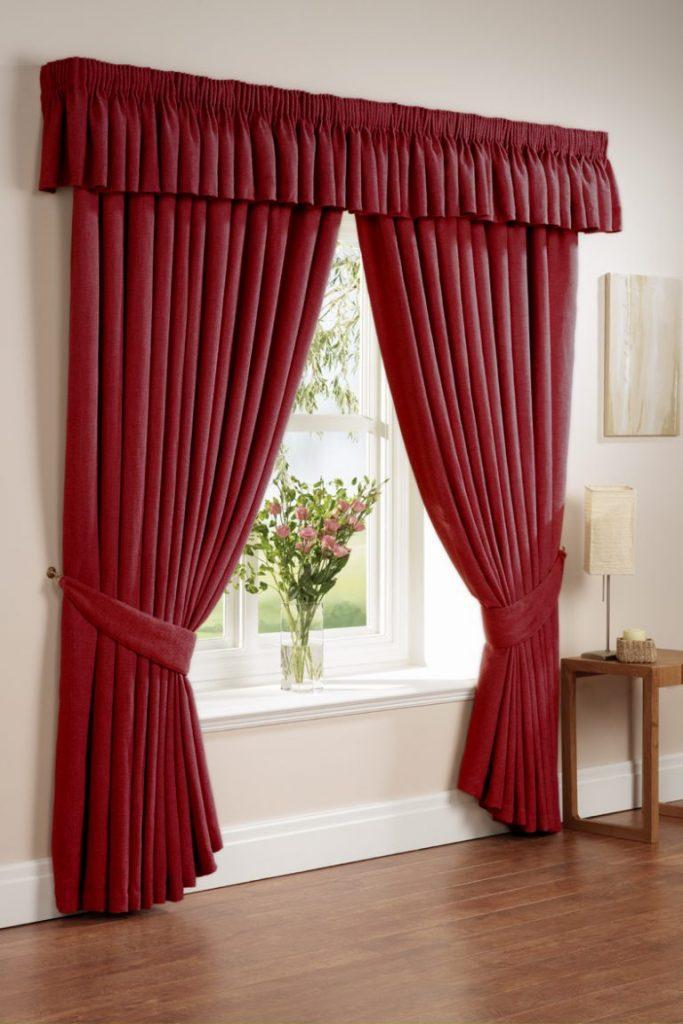 Бордовые шторы фото 5