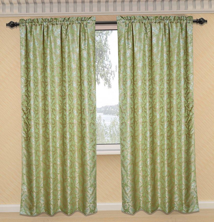 зеленые шторы фото 3